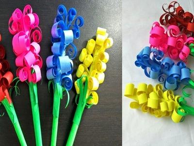 How to Make Lavender Paper Flower Easy Paper Lavender Flower
