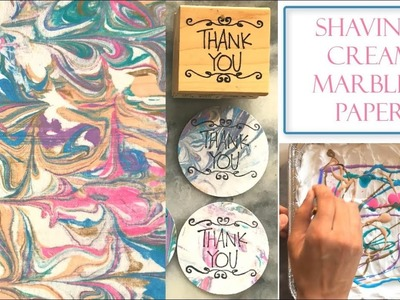 How to Make Marbled Paper with Shaving Cream | Simple and Easy