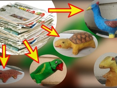 How to make Paper mache parrot | paper made parrot |