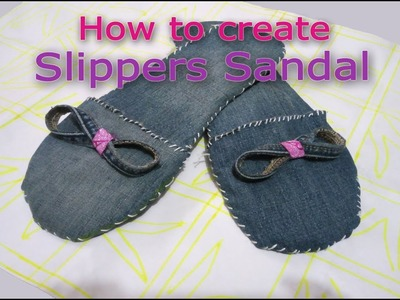 How To Make Slippers Sandal At Home| Old Waste Jeans Using Slippers Shoe Create | DIY