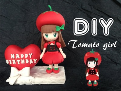 How to make Tomato girl chibi using clay
