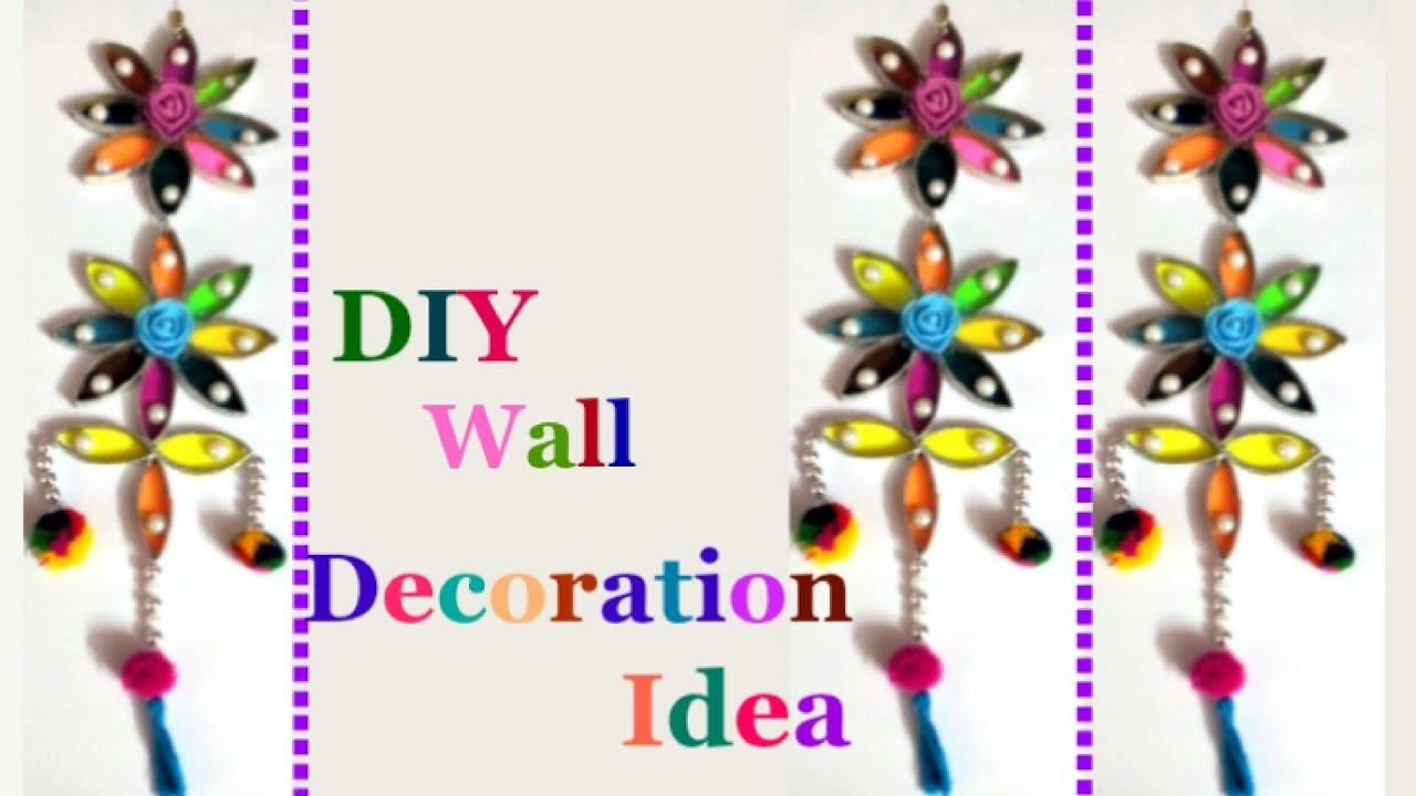 How to make wall hanging from waste toilet roll.foil roll-Best out of waste DIY Wall Decoration idea