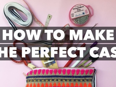 How to make your own Pencil.Beauty.Sewing Case | Teach Me Fashion