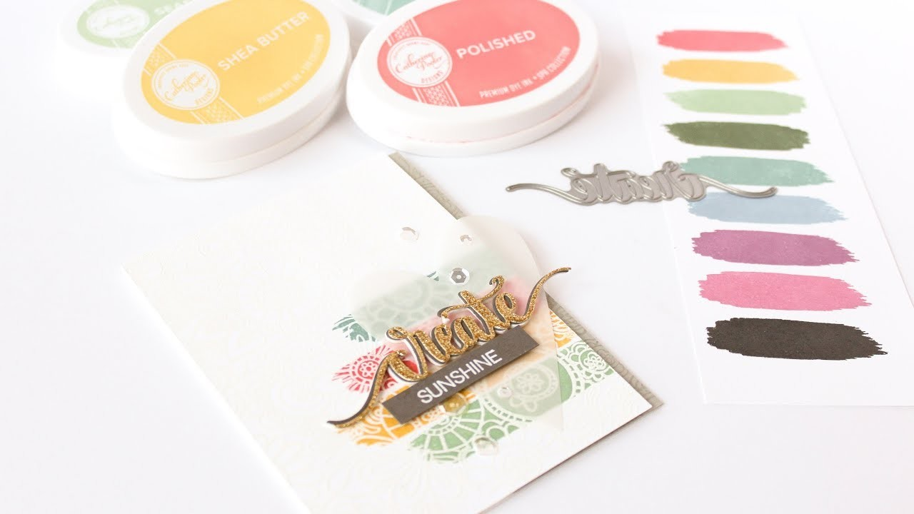 How To Stamp, Watercolor and Emboss With Catherine Pooler Ink Pads