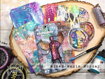 How To Take Gel Prints To The Next Level with a Completed Mixed Media Tag