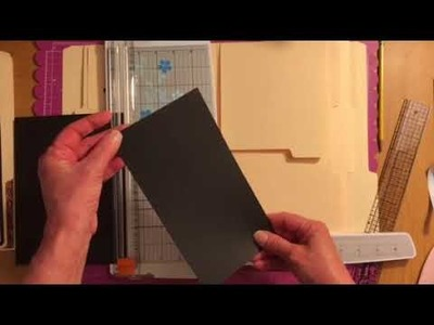 How to tutorial for a file folder album Simple Stories Part 4