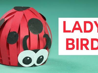 Kids Crafts - Ladybug Paper Crafts Tutorial
