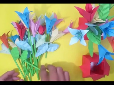 Make rahul ray how to make pen holder with babul ganesh and presan learn how to make flower vase flowers making easy origami mightylinksfo