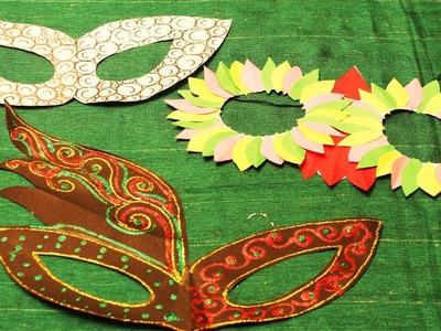 Mask making for kids    How to make a Party mask with paper     #my creative hub