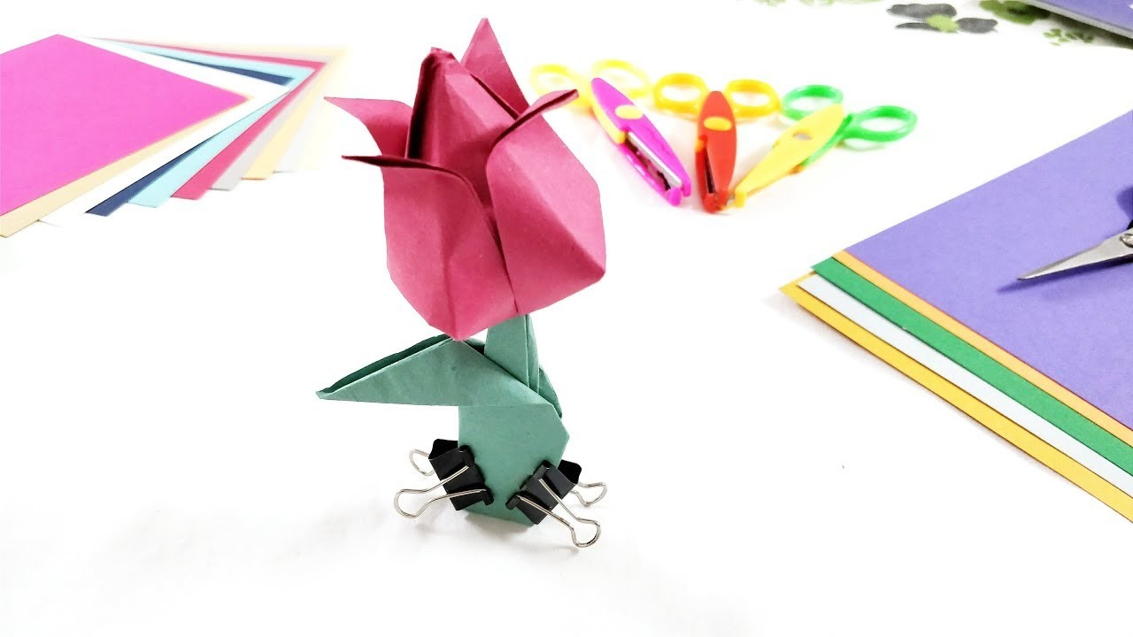 Origami Flower How To Make Origami Tulip Step By Step Tutorial