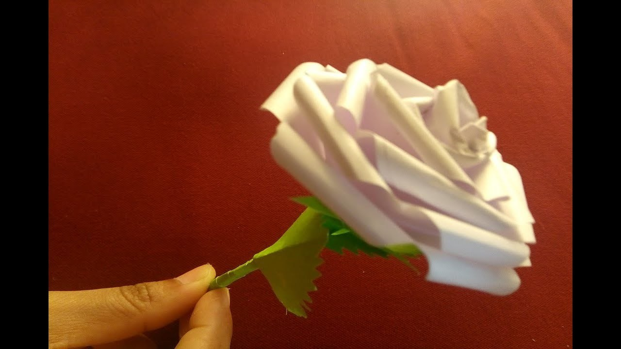 Origami Rose Flower With Paper Making Paper Flowers Step By Step