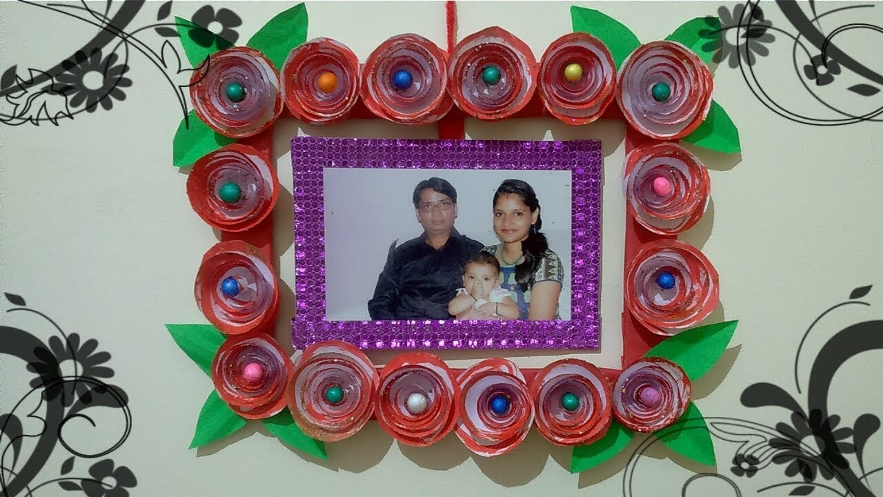 Photo Frame With Cardboard Handmade Mothers Day Gift Summer Camp
