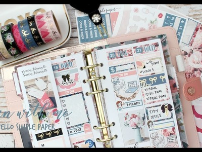 PLAN WITH ME ll PERSONAL PLANNER ll FT HELLO SIMPLE PAPER