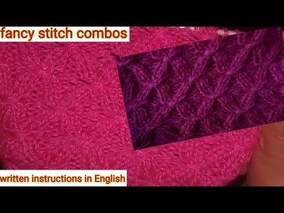 Smoking rib stitches in fancy stitches combo || easy to make Knitting design for Sweaters