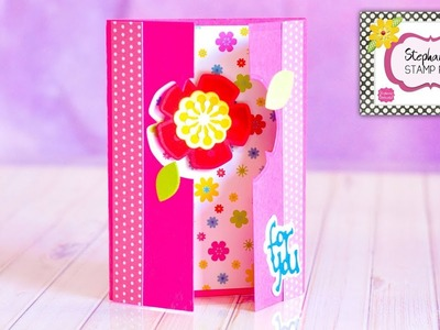 Stephanie's Stamp Pad #109 - How to Make a Mini Gatefold Card
