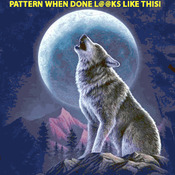 Wolf And Moon Cross Stitch Pattern***LOOK***
