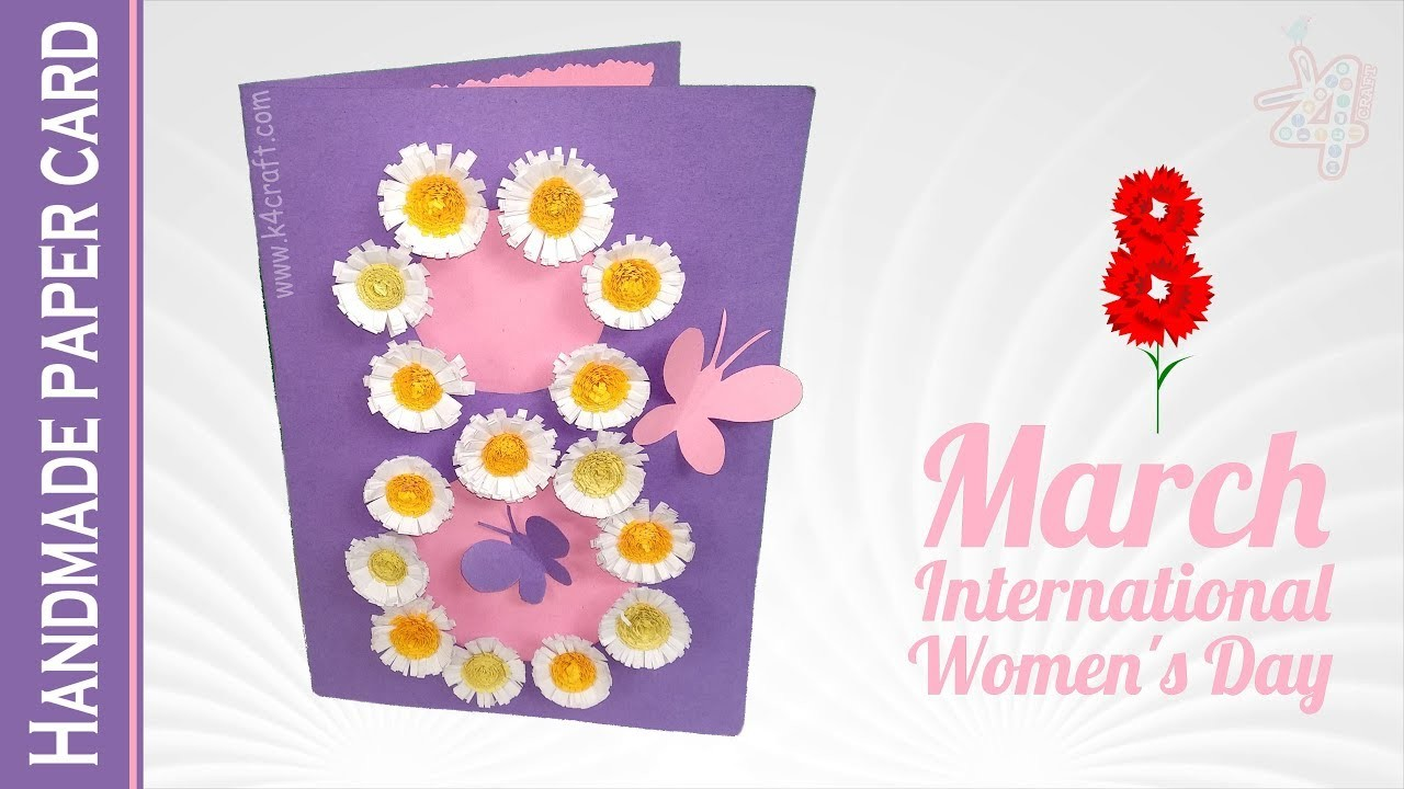 Women's Day Special Card   How to Make Handmade Paper Card