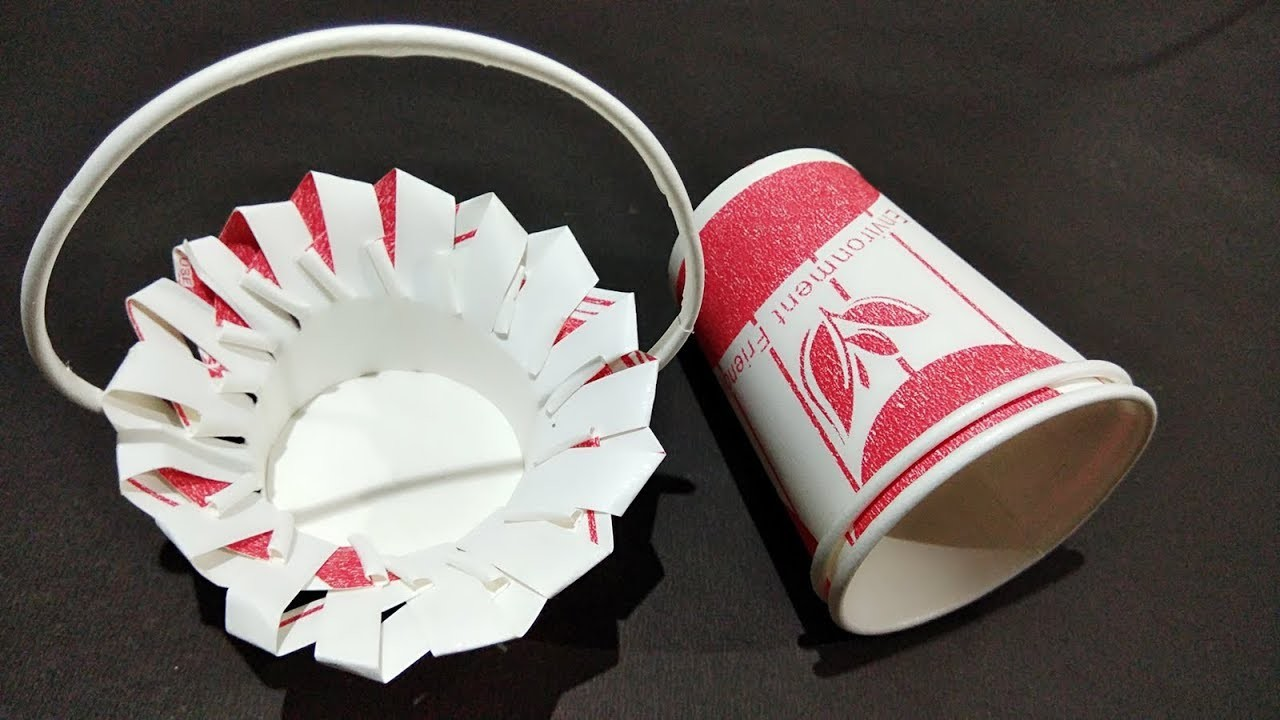 Diy Ideas With Paper Cups Diy Reviews Ideas