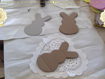 An Easy DIY For Easter.FarmHouse Bunnies!