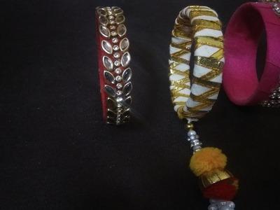 Beautiful silk bangles making at home | DIY | Easy and simple bangles | Art of clothes