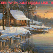 Cabin Fever Cross Stitch Pattern***LOOK***
