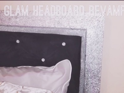 Cheap DIY Glam Headboard Revamp