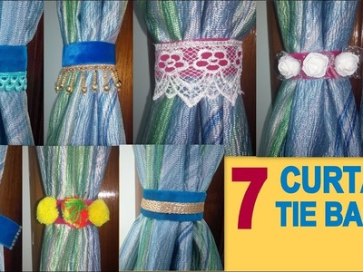 DIY : 7 Easy Curtain Tie Backs || Room Decor Idea || Its makeover tym