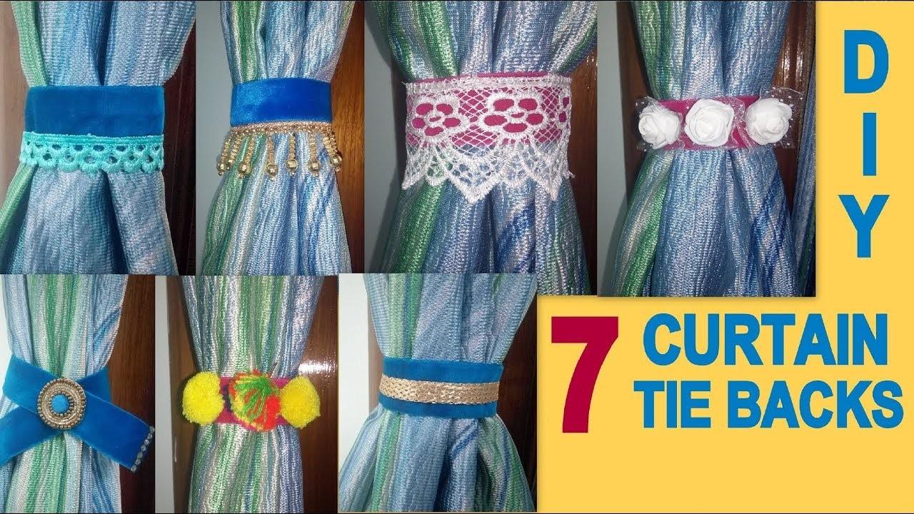 DIY : 7 Easy Curtain Tie Backs || Room Decor Idea || Its makeover tym