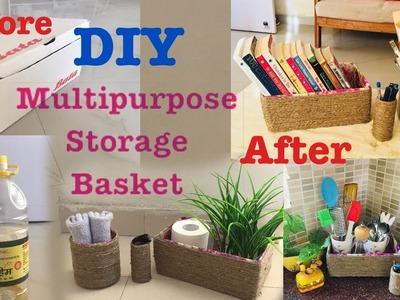 DIY Best out of waste | how to make Multiple Storage Basket | Jute basket