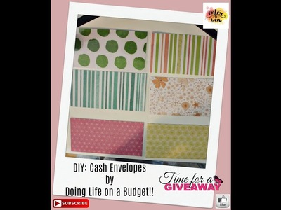 DIY Cash Envelopes by Doing Life on a Budget and Giveaway!!-CLOSED