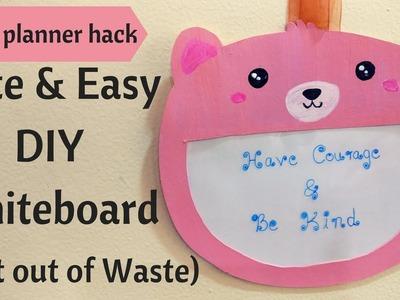 DIY Cute Whiteboard. Dry Eraser Board|| DIY home organization