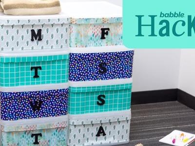 DIY Daily Clothing Organizer | Babble Hacks by Babble