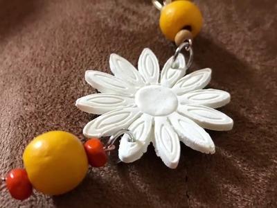 DIY Daisy Necklace Made from Air Dry Clay