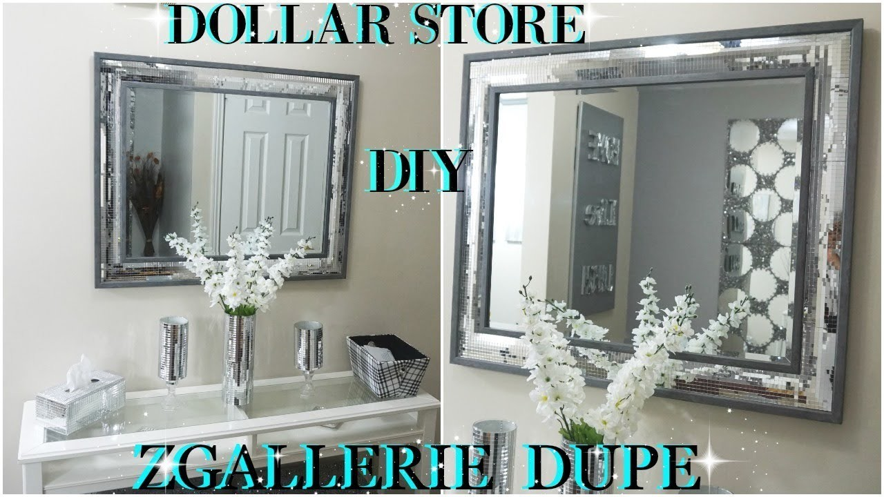 Diy Dollar Store 2018 High End Mirrored Wall Decor Dupe Zgallerie