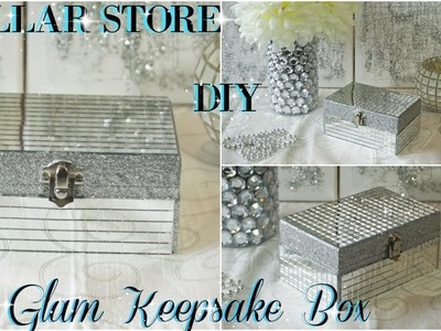 DIY DOLLAR STORE | DIY MIRRORED KEEPSAKE BOX | DIY GLAM ROOM DECOR 2018 | PETALISBLESS