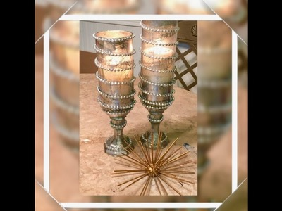 DIY Dollar Tree Candle Holders Glam Up Cycle Creating Elegance For Less With Faithlyn McKenzie 2018