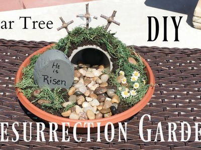 DIY Dollar Tree Easter Resurrection Garden