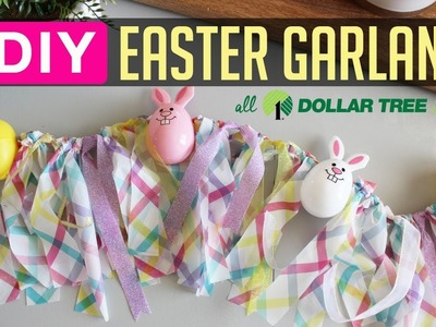 DIY Easter Egg Garland Decoration with Dollar Tree items! Quick & Easy!!