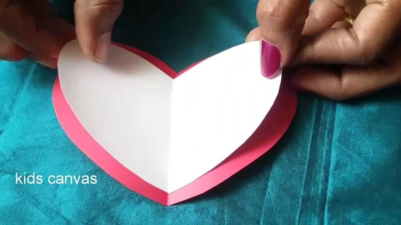 Diy Easy 3d Pop Up Card Making Ideasheart Shape Greeting Cardhow