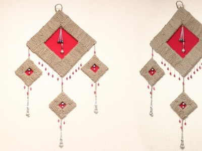 DIY Easy Room Decor Just Wall Hanging - Best Out Of Waste Rope Crafts Idea - DIY Crafts