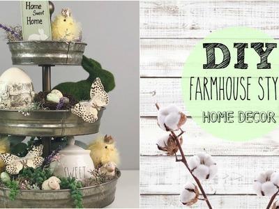 DIY FARMHOUSE DECOR | HOW TO STYLE TIERED TRAYS