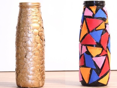 DIY Glass Bottle Home Decoration Idea - DIY Crafts