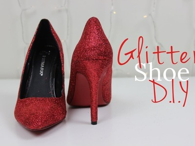 DIY Glitter Shoes | The Design Diary