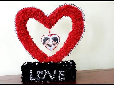 DIY Handmade Gifts ll Woolen Creative Home Decoration ll Heart Shape Photo Frame