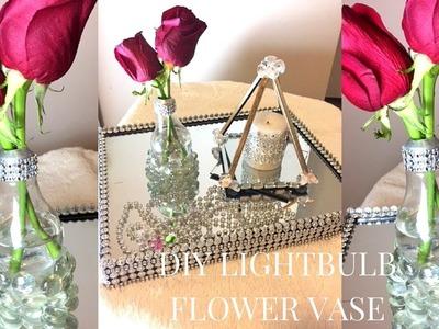 DIY HOW TO MAKE A LIGHT BULB FLOWER VASE  | DIY HOME DECOR