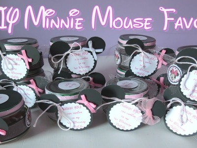 DIY Minnie Mouse Favors|Empty Baby Food Jar Crafts|EverydayFun