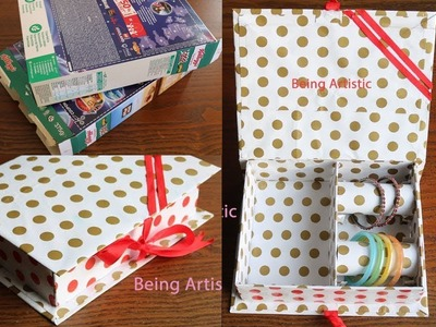 DIY - Paper Jewelry Box - Best out of Waste Cereal Box