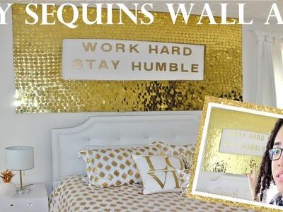 DIY Sequins Wall Art
