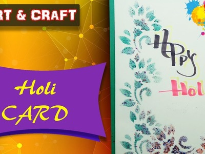 DIY  Simple Holi Card for Kids Happy Holi || Open Mind