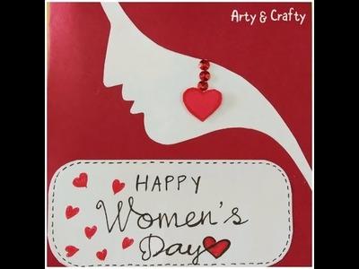 DIY#WOMENS DAY CARD#SIMPLE YET ELEGANT #EASY & QUICK#GREETING#HANDMADE#DIY FOR EVERYONE